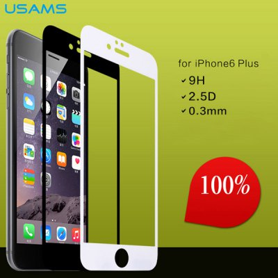 Гаджет   USAMS Practical 0.3mm 9H Hardness Tempered Glass Screen Protector of 2.5D Arc Design for iPhone 6 Plus  -  5.5 inches