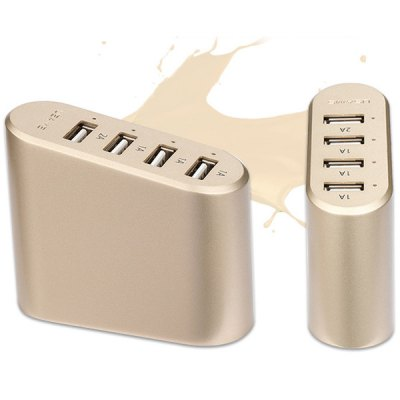 Гаджет   USAMS U - Fast Practical 100  -  240V Input Four USB Interface US Plug Power Adapter iPhone Cables & Adapters