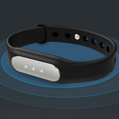 Xiaomi Miband Bluetooth 4.0 Wristband Smart WatchSmart Watches<br>Xiaomi Miband Bluetooth 4.0 Wristband Smart Watch<br><br>Bluetooth version: Bluetooth 4.0<br>People: Unisex watch<br>Waterproof: Yes<br>Screen: No<br>Language: English<br>Battery Type: Lithium polymer batteries<br>Battery Capacity: 45mAh<br>Standby time: 30 days<br>Functions: Sleep monitoring,Pedometer<br>Shape of the dial: Rectangle<br>Case material: Alloy<br>Band material: Rubber<br>The dial thickness: 0.9 cm / 0.4 inches<br>The dial diameter: 1.4 cm / 0.6 inches<br>The band width: 1.3 cm / 0.5 inches<br>Product weight: 0.014 kg<br>Package weight: 0.100 kg<br>Product size (L x W x H): 23 x 1.4 x 0.9 cm / 9.04 x 0.55 x 0.35 inches<br>Package size (L x W x H): 24 x 1.5 x 1.9 cm / 9.43 x 0.59 x 0.75 inches<br>Package Contents: 1 x Xiaomi Miband Smart Watch, 1 x Manual, 1 x Charger, 1 x Box