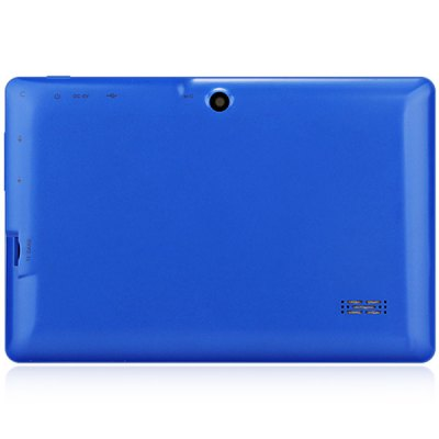 Q88H A33 7 inch Android 4.4 Tablet PCFeatured Tablets<br>Q88H A33 7 inch Android 4.4 Tablet PC<br><br>OS: Android 4.4<br>CPU Brand: All Winner<br>CPU: A33<br>GPU: Mali-400 MP<br>Core: Quad Core,1.2GHz<br>RAM: 512MB<br>ROM: 4GB<br>WIFI: 802.11b/g/n wireless internet<br>Support Network: WiFi<br>Bluetooth: Yes<br>Screen type: Capacitive (5-Point)<br>Screen size: 7 inch<br>Screen resolution: 800 x 480 (WVGA)<br>Camera type: Dual cameras (one front one back)<br>Back camera: 0.3MP<br>Front camera: 0.3MP<br>Video recording: Yes<br>TF card slot: Yes<br>Micro USB Slot: Yes<br>DC Jack: Yes<br>3.5mm Headphone Jack: Yes<br>Battery Capacity: 2600mAh<br>Battery / Run Time (up to): 3 hours video playing time<br>AC adapter: 100-240V 5V 2A<br>Material of back cover: Plastic<br>G-sensor: Supported<br>Skype: Supported<br>Youtube: Supported<br>Speaker: Supported<br>MIC: Supported<br>Picture format: JPEG,GIF,BMP,PNG<br>Music format: AAC,MP3,WAV<br>Video format: 3GP,AVI,MP4<br>MS Office format: Word,Excel,PPT<br>E-book format: TXT,PDF<br>3D Games: Supported<br>Languages: English,French,Spanish,Portuguese,Russian,German,Italian,Dutch<br>Note: If you need any specific language other than English and you must leave us a message when you checkout<br>Additional Features: MP4,MP3,Wi-Fi,Gravity Sensing System<br>Product size: 18.8 x 10.8 x 1.0 cm / 7.4 x 4.3 x 0.4 inches<br>Package size: 23.5 x 16.0 x 7.5 cm<br>Product weight: 0.280 kg<br>Package weight: 0.520 kg<br>Tablet PC: 1<br>OTG Cable: 1<br>Charger: 1<br>USB Cable: 1<br>User Manual: 1