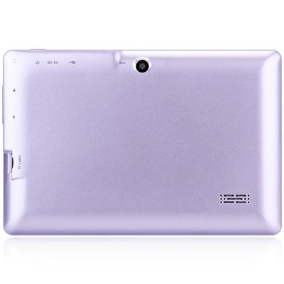 Q88H A33 7 inch Android 4.4 Tablet PCTablet PCs<br>Q88H A33 7 inch Android 4.4 Tablet PC<br><br>OS: Android 4.4<br>CPU Brand: All Winner<br>CPU: A33<br>GPU: Mali-400 MP<br>Core: 1.2GHz,Quad Core<br>RAM: 512MB<br>ROM: 8GB<br>WIFI: 802.11b/g/n wireless internet<br>Support Network: WiFi<br>Bluetooth: Yes<br>Screen type: Capacitive (5-Point)<br>Screen size: 7 inch<br>IPS: Yes<br>Screen resolution: 1280 x 800 (WXGA)<br>Camera type: Dual cameras (one front one back)<br>Back camera: 0.3MP<br>Front camera: 0.3MP<br>Video recording: Yes<br>TF card slot: Yes<br>Micro USB Slot: Yes<br>DC Jack: Yes<br>3.5mm Headphone Jack: Yes<br>Battery Capacity: 2600mAh<br>Battery / Run Time (up to): 3 hours video playing time<br>AC adapter: 100-240V 5V 2A<br>Material of back cover: Plastic<br>G-sensor: Supported<br>Skype: Supported<br>Youtube: Supported<br>Speaker: Supported<br>MIC: Supported<br>Picture format: BMP,GIF,JPEG,PNG<br>Music format: AAC,MP3,WAV<br>Video format: 3GP,AVI,MP4<br>MS Office format: Excel,PPT,Word<br>E-book format: PDF,TXT<br>3D Games: Supported<br>Languages: Dutch,English,French,German,Italian,Portuguese,Russian,Spanish<br>Note: If you need any specific language other than English and you must leave us a message when you checkout<br>Additional Features: Gravity Sensing System,MP3,MP4,Wi-Fi<br>Package size: 23.50 x 16.00 x 7.50 cm / 9.25 x 6.3 x 2.95 inches<br>Product weight: 0.280 kg<br>Package weight: 0.748 kg<br>Tablet PC: 1<br>OTG Cable: 1<br>Charger: 1<br>USB Cable: 1<br>User Manual: 1