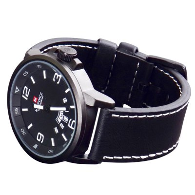 Naviforce 9028 Men Japan Quartz WatchMens Watches<br>Naviforce 9028 Men Japan Quartz Watch<br><br>Brand: Naviforce<br>Watches categories: Male table<br>Watch style: Military<br>Available color: Black,Brown,Gun Metal<br>Movement type: Quartz watch<br>Shape of the dial: Round<br>Display type: Analog<br>Case material: Alloy<br>Band material: Leather<br>Clasp type: Pin buckle<br>Special features: Day,Date<br>Water resistance : 30 meters<br>The dial thickness: 1.3 cm / 0.51 inches<br>The dial diameter: 4.6 cm / 1.81 inches<br>The band width: 2.4 cm / 0.94 inches<br>Product weight: 0.080 kg<br>Package weight: 0.130 kg<br>Product size (L x W x H): 26.5 x 4.6 x 1.3 cm / 10.41 x 1.81 x 0.51 inches<br>Package size (L x W x H): 27.5 x 5.5 x 2.3 cm / 10.81 x 2.16 x 0.90 inches<br>Package Contents: 1 x Naviforce 9028 Watch