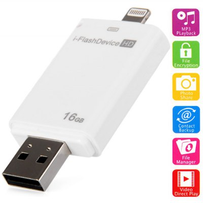 i-Flash Drive U Disk Memoria Flash Alta Velocità 16GB per  iPhone iPad Desktop Laptop