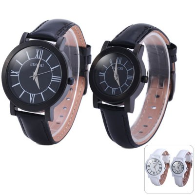 Гаджет   Binchi Japan Quartz Watch Round Dial Genuine Leather Band