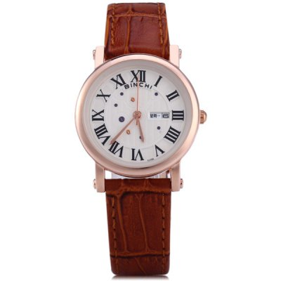 Binchi Female Japan Quartz Watch Water Resistant Round DialWomens Watches<br>Binchi Female Japan Quartz Watch Water Resistant Round Dial<br><br>Brand: Binchi<br>Brand origin: Switzerland<br>Watches categories: Female table<br>Available color: Black, White, Brown<br>Style : Fashion&amp;Casual<br>Movement type: Quartz watch<br>Shape of the dial: Round<br>Display type: Analog<br>Case material: Alloy<br>Band material: Genuine leather<br>Clasp type: Pin buckle<br>Water Resistance : 20 meters<br>Special features: Day, Week<br>The dial thickness: 0.8 cm / 0.3 inches<br>The dial diameter: 3.0 cm / 1.2 inches<br>The band width: 1.4 cm / 0.6 inches<br>Product weight: 0.030 kg<br>Product size (L x W x H) : 23.2 x 3.0 x 0.8 cm / 9.1 x 1.2 x 0.3 inches<br>Package contents: 1 x Watch