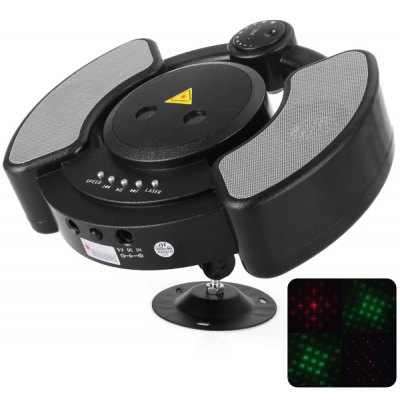 TF - 003 Sound Activated Red + Green Starry Laser Stage Light Strobe Flashing Light