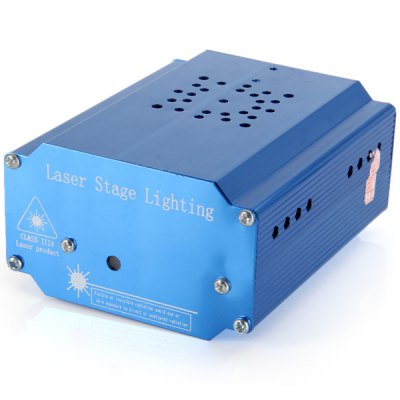 YX - 039 Mini Remote Controlled MP3 Laser Projector Laser Stage Lamp  -  532nm + 650nm