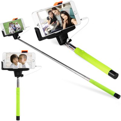 Fashionable Self - timer Stretch Camera Monopod with Clip 20cm Audio Cable
