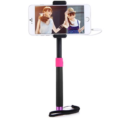 Fashionable Self - timer Stretch Camera Monopod with Clip Stand 20cm Audio CableStands &amp; Holders<br>Fashionable Self - timer Stretch Camera Monopod with Clip Stand 20cm Audio Cable<br><br>Compatibility: Blackberry, Sony Ericsson, Samsung, LG, Motorola, iPhone, Nokia, HTC<br>Color   : Black, Red, Blue<br>Product weight : 0.141 kg<br>Package weight : 0.203 kg<br>Product size (L x W x H) : 23 x 3 x 1.7 cm / 9.1 x 1.2 x 0.7 inches<br>Package size (L x W x H) : 28 x 11 x 5 cm<br>Package Contents: 1 x Self-timer Camera Monopod, 1 x Clip
