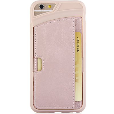 Гаджет   Card Holder Design TPU and PU Back Case Cover for iPhone 6  -  4.7 inches iPhone Cases/Covers