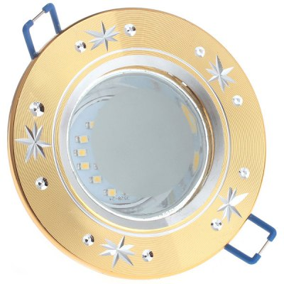 4 x Zweihnder 480Lm 5W 24 SMD 3528 LED Ceiling Lamp 6000  -  6500K Golden Recessed Downlight