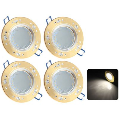 4 x Zweihnder 5W 24 SMD 3528 480Lm White Light Ceiling Lamp