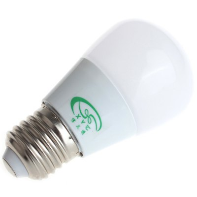 Zweihnder 280LM E27 3W SMD 2835 15 LED Lights Ultra Bright White Light Globe Bulb  -  5500  -  6000KLED Light Bulbs<br>Zweihnder 280LM E27 3W SMD 2835 15 LED Lights Ultra Bright White Light Globe Bulb  -  5500  -  6000K<br><br>Brand : Zweihnder<br>Base Type: E27<br>Type: Ball Bulbs<br>Output Power: 3W<br>Emitter Type: SMD-2835 LED<br>Total Emitters: 15 LEDs<br>Actual Lumen(s): 280Lm<br>Voltage (V): AC 220-240<br>Appearance: Milky Shade<br>Features: Low Power Consumption, Long Life Expectancy, Energy Saving<br>Function: Home Lighting, Commercial Lighting, Studio and Exhibition Lighting<br>Available Light Color: Cold White, Warm White<br>Sheathing Material: PC<br>Product Weight: 0.030 kg<br>Package Weight: 0.05 kg<br>Product Size (L x W x H): 9.3 x 4.9 x 4.9 cm / 3.66 x 1.93 x 1.93 inches<br>Package Size (L x W x H): 10 x 5.5 x 5.5 cm<br>Package Contents: 1 x High Brightness Zweihnder E27 3W 15 SMD 2835 280Lm Milky Ball Bulb