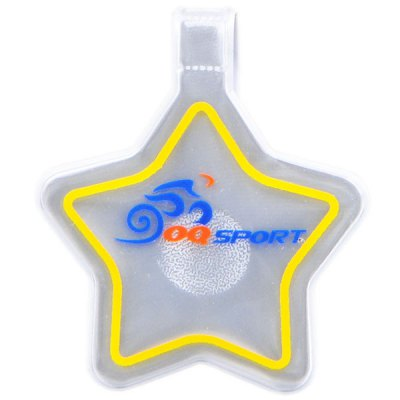 1 Piece Bicycle Bag Decor Luminous PVC Pentagram Pendant Outdoor Cycling Hiking Camping SuppliesCycling<br>1 Piece Bicycle Bag Decor Luminous PVC Pentagram Pendant Outdoor Cycling Hiking Camping Supplies<br><br>Brand Name: OQSPORT<br>For: Unisex<br>Type: Bicycle Bag<br>Material: Reflective PVC + magnetic disk<br>Features: Luminous and reuseable<br>Suitable for : Mountain Bicycle, Road Bike, Bike, Motorbike<br>Color: White<br> Product weight : 0.006 kg<br>Package weight : 0.050 kg<br>Product size (L x W x H)   : 11.8 x 4.8 x 0.1 cm / 4.6 x 1.9 x 0.04 inches<br>Package size (L x W x H)  : 12 x 5 x 1 cm<br>Package Contents: 1 x Bike Bag Decors