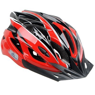 Cool Bicycle Helmet Unibody Integrated Cycling Hat with Adjustable Buckle