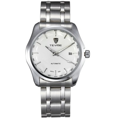 ФОТО Tevise 8379 - 003 Men Automatic Mechanical Watch Round Dial Stainless Steel Body Date