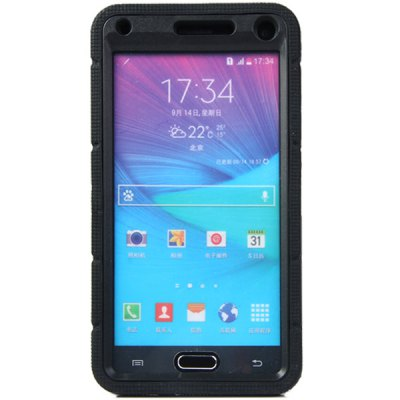 Фотография Ring Stand Design Silicone and PC Back Cover Case for Samsung Galaxy Note4 N9100