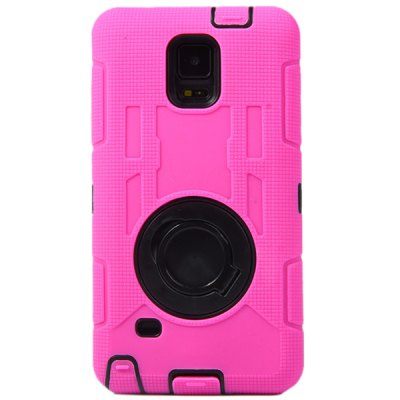 Ring Stand Design Silicone and PC Back Cover Case for Samsung Galaxy Note4 N9100