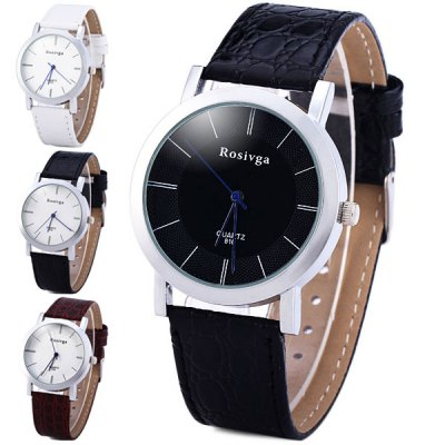 Rosivga 810 Men Quartz Watch Leather Strap Round DialMens Watches<br>Rosivga 810 Men Quartz Watch Leather Strap Round Dial<br><br>Brand: Rosivga<br>Watches categories: Male table<br>Watch style: Business<br>Available color: Multi-color, Black, White, Brown<br>Movement type: Quartz watch<br>Shape of the dial: Round<br>Display type: Analog<br>Case material: Stainless steel<br>Case color: Silver<br>Band material: Leather<br>Clasp type: Pin buckle<br>The dial thickness: 0.8 cm / 0.3 inches<br>The dial diameter: 3.7 cm / 1.5 inches<br>The band width: 1.8 cm / 0.7 inches<br>Product weight: 0.034 kg<br>Product size (L x W x H): 24 x 3.7 x 0.8 cm / 9.4 x 1.5 x 0.3 inches<br>Package Contents: 1 x Watch