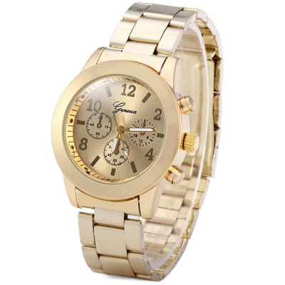 Geneva Female Quartz Watch Non - functioning Sub - dials Round Dial Steel WatchbandWomens Watches<br>Geneva Female Quartz Watch Non - functioning Sub - dials Round Dial Steel Watchband<br><br>Brand: Geneva<br>Watches categories: Female table<br>Available color: Rose Gold, Gold, Silver<br>Style : Fashion&amp;Casual<br>Movement type: Quartz watch<br>Shape of the dial: Round<br>Display type: Analog<br>Case material: Stainless steel<br>Band material: Steel<br>Clasp type: Folding clasp with safety<br>The dial thickness: 0.8 cm / 0.3 inches<br>The dial diameter: 3.7 cm / 1.5 inches<br>The band width: 1.8 cm / 0.7 inches<br>Product weight: 0.065 kg<br>Product size (L x W x H) : 14 x 3.7 x 0.8 cm / 5.5 x 1.5 x 0.3 inches<br>Package contents: 1 x Watch