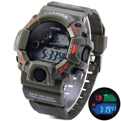 Xinjie 929 Sports Watch LED Week Date Military Wristwatch