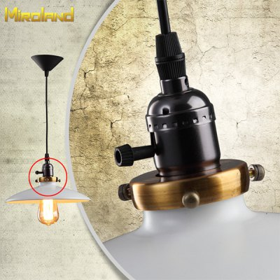 Miroland Retro Industrial Wind Pendant Light Vintage Iron Paint Lampshade with Tungsten Filament Edison Bulb for Loft DIY (D8116)Decorative Lights<br>Miroland Retro Industrial Wind Pendant Light Vintage Iron Paint Lampshade with Tungsten Filament Edison Bulb for Loft DIY (D8116)<br><br>Brand: Miroland<br>Model: D8116<br>Type: Decorative Lighting<br>Decorative Style: Simple and Modern, LOFT, Continental Neoclassicism, Nordic Style, Natural American Country Classicism<br>For: Office, Hotel, Home, Restaurant, Cafe, Clothing Store, Bar, Saloon<br>Material: Glass, Metal<br>Features: Creative, Retro<br>Power: 40W<br>Voltage: 220V<br>Package Quantity: 1<br>Color: White, Black<br>Package weight   : 1.0 kg<br>Product size (L x W x H)   : 26 x 26 x 30 cm / 10.24 x 10.24 x 11.81 inches (with 120cm / 47in sling)<br>Package size (L x W x H)  : 36 x 36 x 25 cm<br>Package Contents: 1 x Retro Pendant Light (120cm Sling + Lampshade + Bulb)