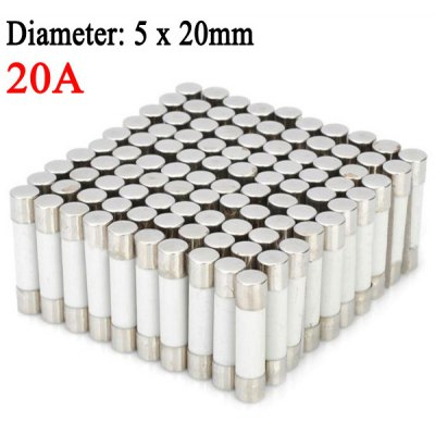 High Performance 20A Fast Blow 5 x 20mm DIY Ceramic Fuses Fuse Link for Car  -  100PCS