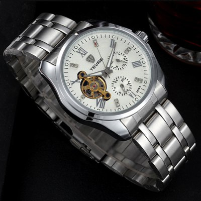 Tevise 8379A Automatic Mechanical Male Tourbillon Watch