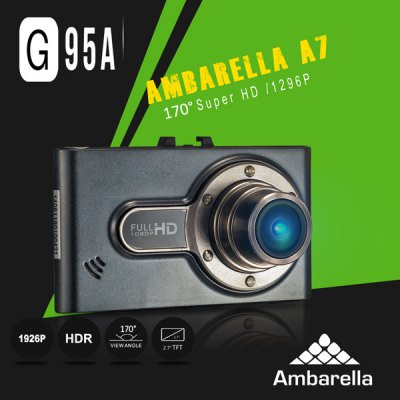 DOME G95A 2.7 inch 1296P HD LCD Screen Ambarella A7LA50 Car DVR CamcorderCar DVR<br>DOME G95A 2.7 inch 1296P HD LCD Screen Ambarella A7LA50 Car DVR Camcorder<br><br>Brand: DOME<br>Model: G95A<br>Type : HD Car DVR Recorder, Full HD Dashcam<br>Chipset Name: Ambarella<br>Chipset : Ambarella A7LA50<br>Special Function: HDMI, AV-OUT<br>Max External Card Supported: TF 32G (not included)<br>Class Rating Requirements: Class 4 or Above<br>Screen Size: 2.7inch<br>Screen Type: LCD<br>Battery type: Built-in<br>Capacity : 180mAh<br>Charge Way : USB charge by PC, Car charger<br>Wide Angle: 170 degree wide angle<br>Decode Format: H.264<br>Video Format: MOV<br>Video Resolution : 1080P (1920 x 1080), 1296P (2304 x 1296), 2560 x 1080<br>Video System: NTSC, PAL<br>Video Output: AV-OUT, HDMI<br>Image Format  : JPG<br>Audio System: Built-in microphone/speacker (AAC)<br>HDMI Output: Yes<br>Interface Type: AV-Out, HDMI<br>Language: French, Russian, Deutsch, Dutch, Simplified Chinese, Traditional Chinese, English<br>Product Weight: 0.070 kg<br>Package Weight: 0.355 kg<br>Product Size (L x W x H): 8.7 x 5.2 x 3.8 cm / 3.4 x 2 x 1.49 inches<br>Package Size (L x W x H): 17.5 x 13.5 x 8.5 cm<br>Package Contents: 1 x Camcorder, 1 x USB Cable, 1 x Car Charger, 1 x Suction Cup Mount, 1 x User Manual