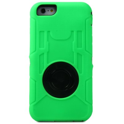 Гаджет   Ring Stand Design Silicone and PC Back Cover Case for iPhone 6 Plus  -  5.5 inches iPhone Cases/Covers