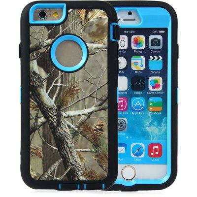 ФОТО Gray Branch Pattern TPU and PC Material Back Case Cover for iPhone 6  -  4.7 inches