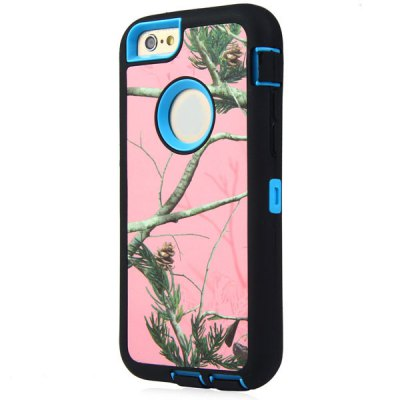 ФОТО Pink Branch Pattern TPU and PC Material Back Case Cover for iPhone 6  -  4.7 inches