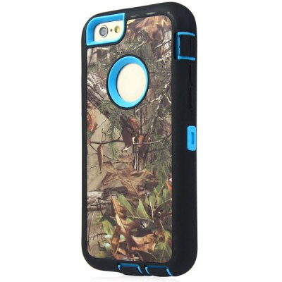 ФОТО Leaf Pattern TPU and PC Material Back Case Cover for iPhone 6  -  4.7 inches