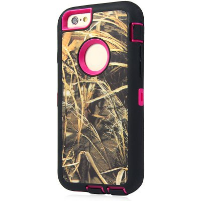 ФОТО Reed Pattern TPU and PC Material Back Case Cover for iPhone 6  -  4.7 inches