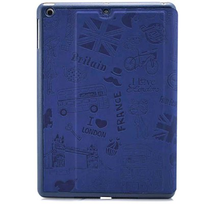 ФОТО KAKU Iron Tower Pattern PU and PC Material Anti - slip Design Cover Case for iPad Air 2