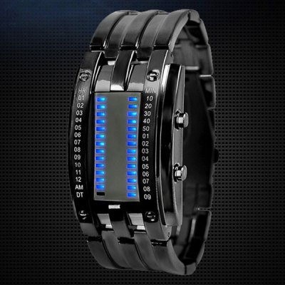 Гаджет   Skmei 0926 Military LED Watch Date 3ATM Water Resistant Stainless Steel Body Sports Watches