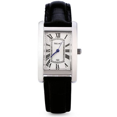 Гаджет   ShiLonG 8069L 50M Water Resistant Quartz Watch Stainless Steel Date Rectangle Dial Genuine Leather Strap for Female Women Women