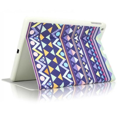 KAKU Triangle Pattern PU and PC Material Cover Case for iPad 2 / 3 / 4