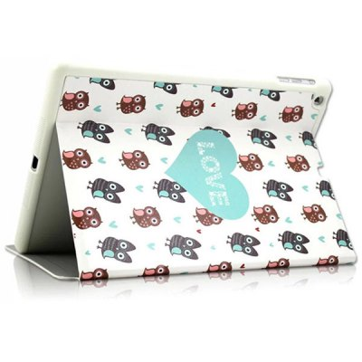 Фотография KAKU Owl Pattern PU and PC Material Cover Case for iPad Air