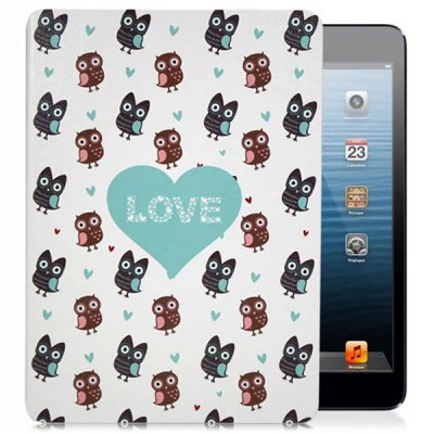 KAKU Owl Pattern PU and PC Material Cover Case for iPad Air