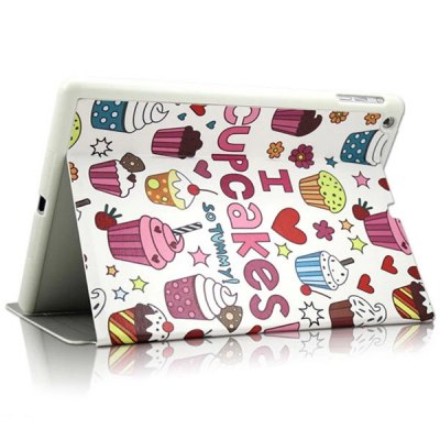 KAKU Cake Pattern PU and PC Material Cover Case for iPad Air