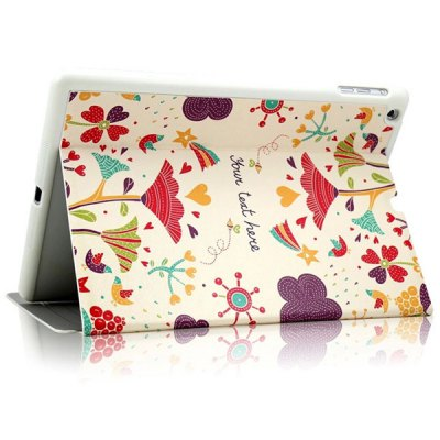 KAKU Flower Pattern PU and PC Material Cover Case for iPad Air