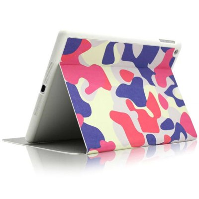 KAKU Red Camouflage Pattern PU and PC Material Cover Case for iPad Air