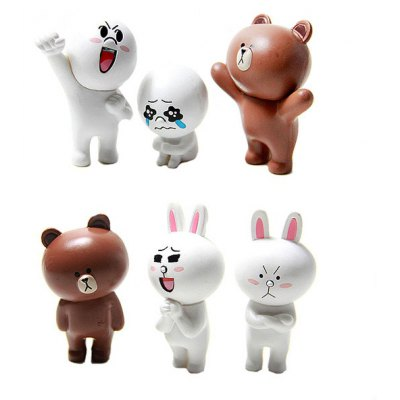 Cute BEAR and CONY Model Emoticon Interesting Decorative Toy