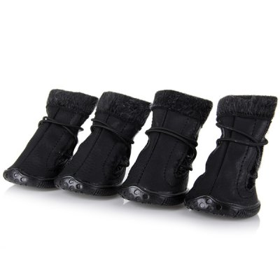 4 PCS Comfortable Pet Dog Boots Shoes Anti - skidding Outdoor Footwear