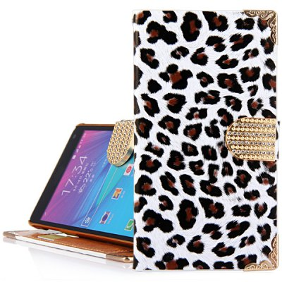 ФОТО Leopard Print Design PU Leather and PC Cover Case for Samsung Galaxy Note4 N9100
