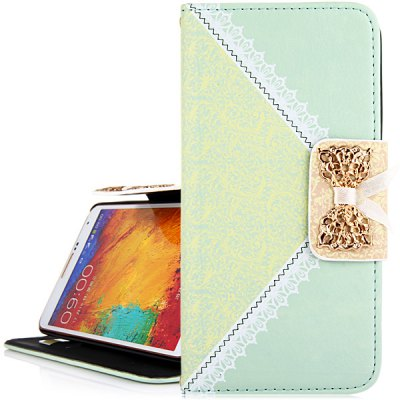 Гаджет   Bowknot and Retro Flower Design PU Leather and PC Cover Case for Samsung Galaxy Note4 N9100 Samsung Cases/Covers
