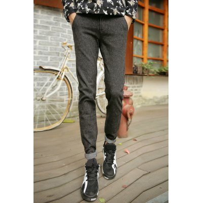 Гаджет   Slimming Stylish Color Block Ethnic Splicing Straight Leg Cotton Blend Pants For Men Pants