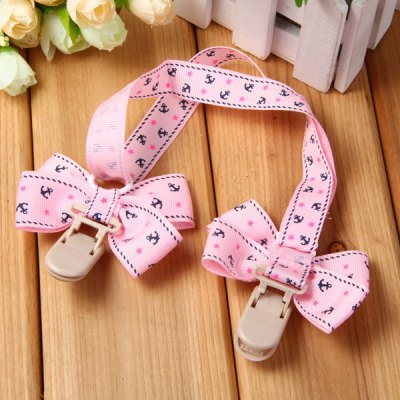 Фотография Bowknot Pattern Baby Bib Clip for Infant Feeding Nursing Drool Use