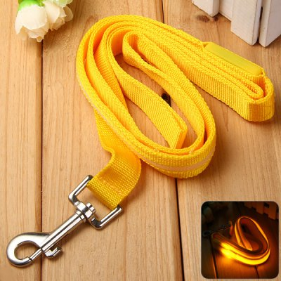 Pet Cat Dog LED Collar Safety Leash Flashing Hauling Cable Belt